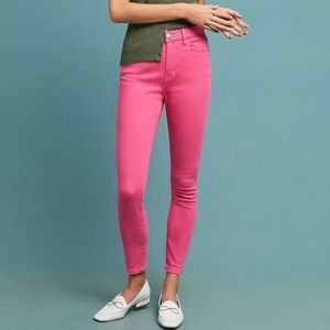 Current Elliot High Waist Skinny Jeans Pink NWT